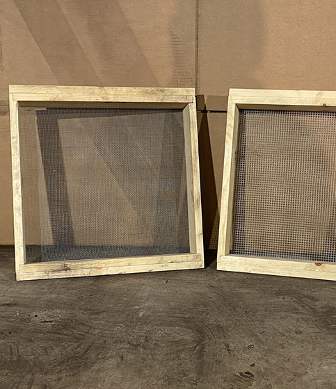 Wooden Framed Hand Screens 2' x 2'