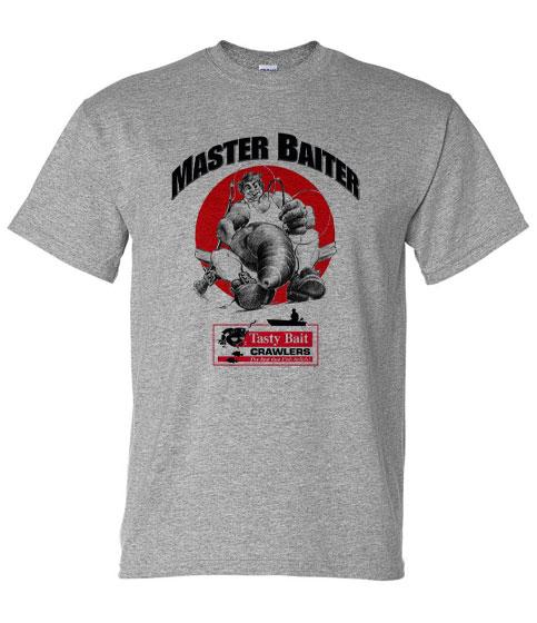 master baiter tee shirt gray